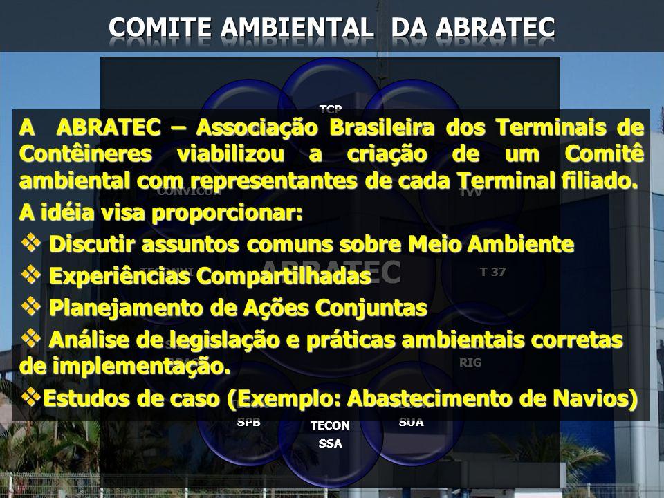A ABRATEC – Associação Brasileira dos Terminais de Contêineres viabilizou a criação de um Comitê ambiental com representantes de cada Terminal filiado