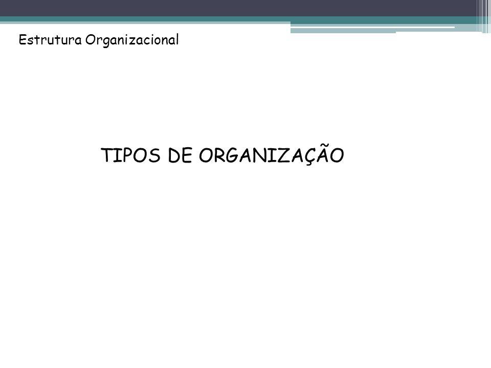 Estrutura Organizacional TIPOS DE ORGANIZAÇÃO
