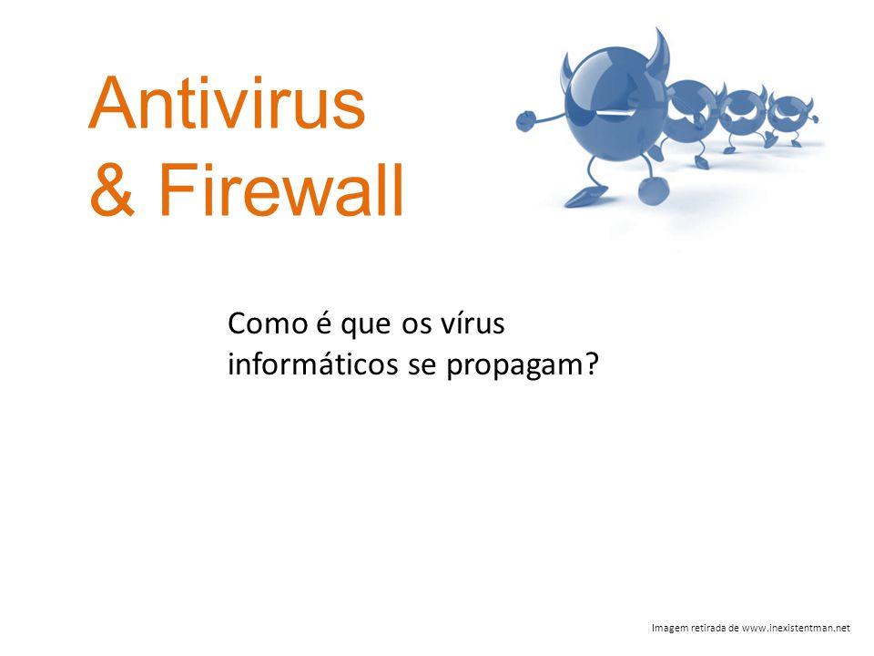 Antivirus & Firewall Imagem retirada de www.inexistentman.net Como é que os vírus informáticos se propagam?
