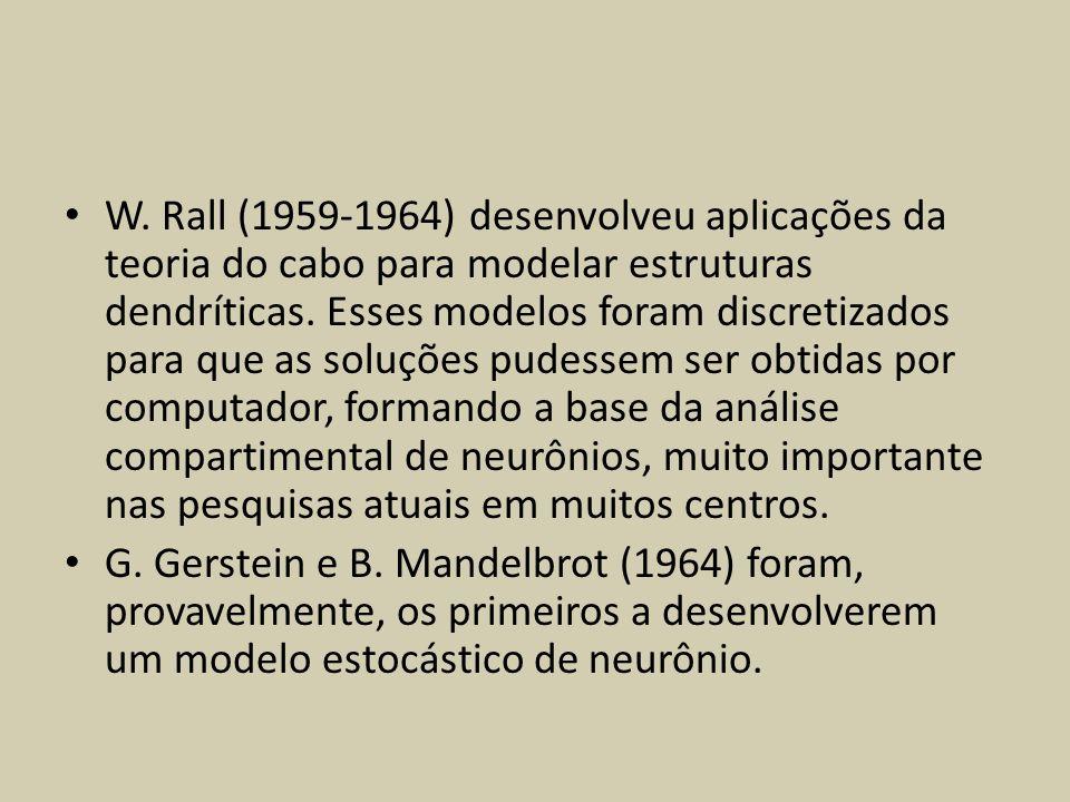 W. Rall (1959-1964) desenvolveu aplicações da teoria do cabo para modelar estruturas dendríticas. Esses modelos foram discretizados para que as soluçõ