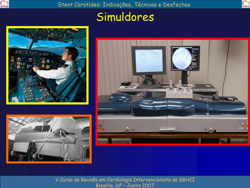 Stent Carotídeo: Indicações, Técnicas e Desfechos V Curso de Revisão em Cardiologia Intervencionista da SBHCI Brasília, DF – Junho 2007 Simuldores