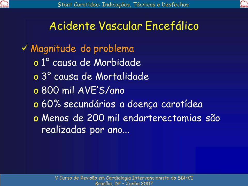Stent Carotídeo: Indicações, Técnicas e Desfechos V Curso de Revisão em Cardiologia Intervencionista da SBHCI Brasília, DF – Junho 2007 Acidente Vascu
