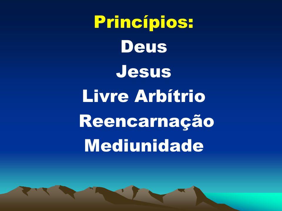 Princípios: Deus Jesus Livre Arbítrio Reencarnação Mediunidade