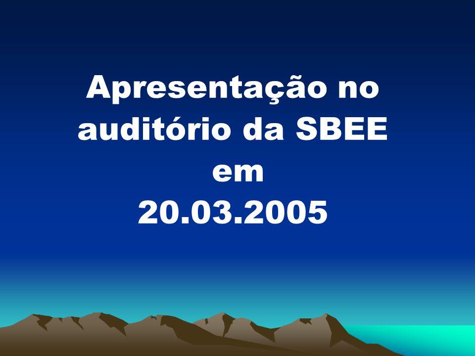 Apresentação no auditório da SBEE em 20.03.2005