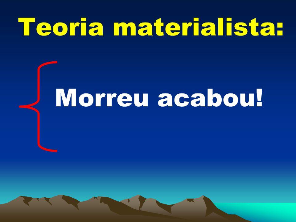 Teoria materialista: Morreu acabou!