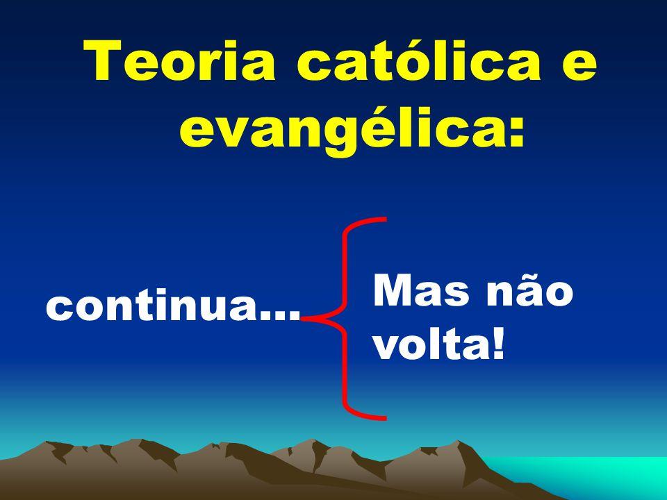 Teoria católica e evangélica: continua... Mas não volta!