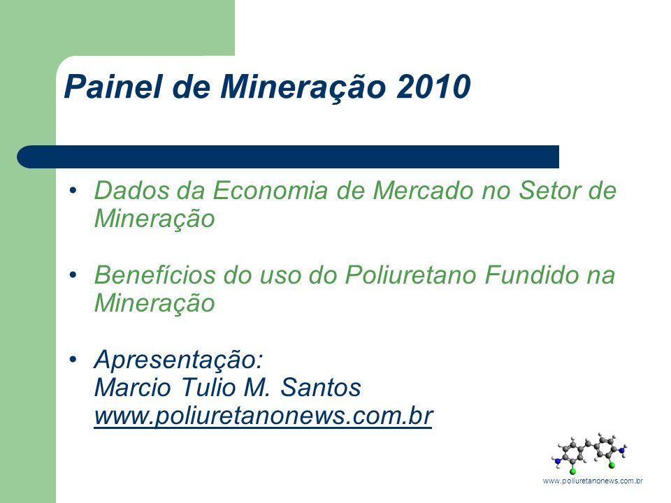Dados da Economia de Mercado no Setor de Mineração Benefícios do uso do Poliuretano Fundido na Mineração Apresentação: Marcio Tulio M. Santos www.poli