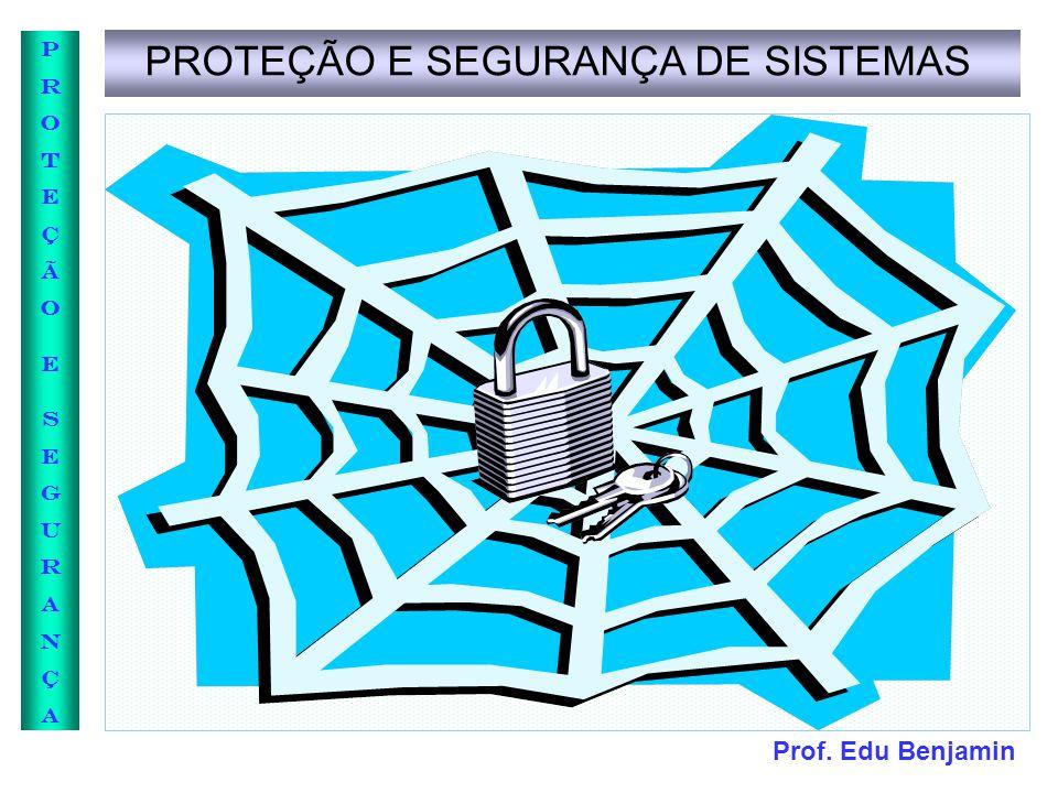 Prof. Edu Benjamin PROTEÇÃOESEGURANÇAPROTEÇÃOESEGURANÇA PROTEÇÃO E SEGURANÇA DE SISTEMAS