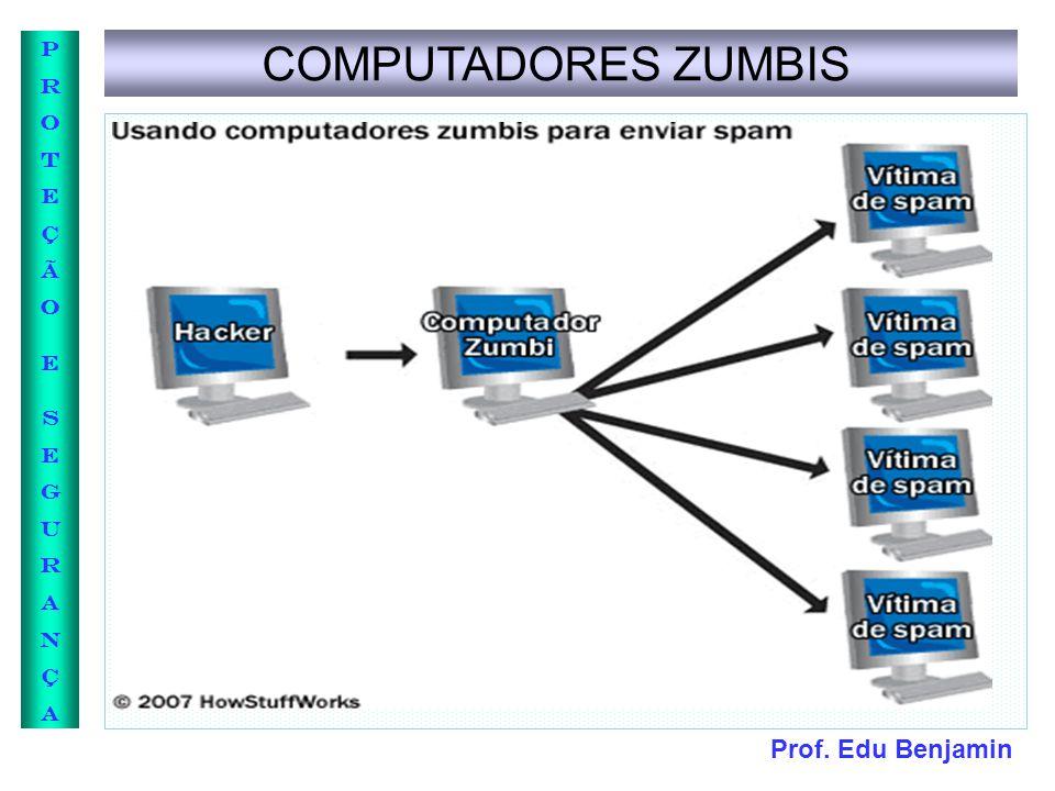 Prof. Edu Benjamin PROTEÇÃOESEGURANÇAPROTEÇÃOESEGURANÇA COMPUTADORES ZUMBIS