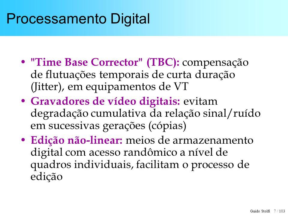 Guido Stolfi 7 / 103 Processamento Digital