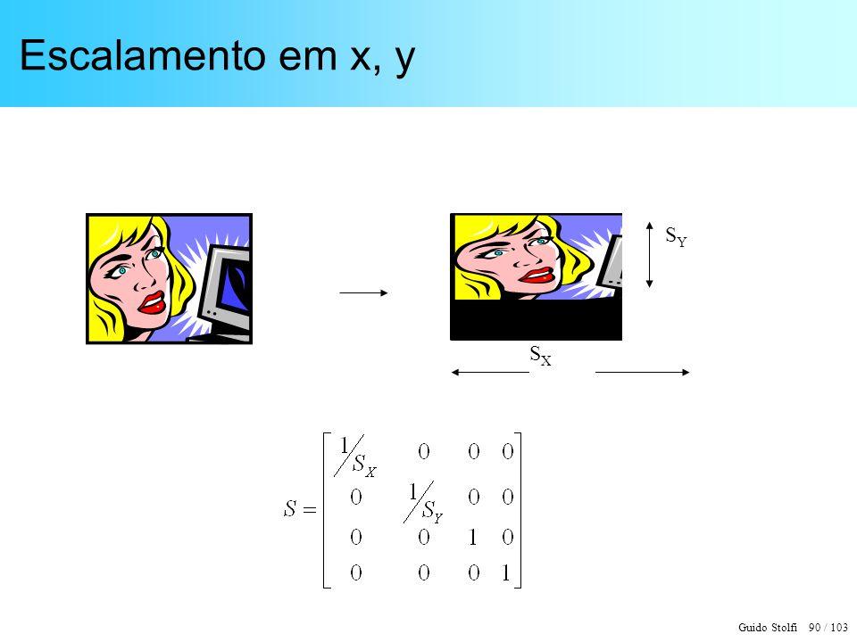 Guido Stolfi 90 / 103 Escalamento em x, y SYSY SXSX