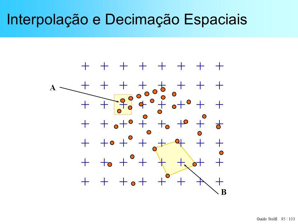 Guido Stolfi 95 / 103 Interpolação e Decimação Espaciais A B