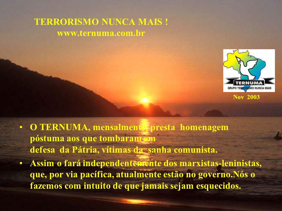 TERRORISMO NUNCA MAIS .