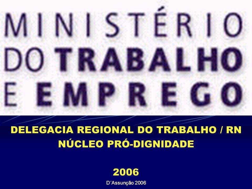 D´Assunção 2006 DELEGACIA REGIONAL DO TRABALHO / RN NÚCLEO PRÓ-DIGNIDADE 2006