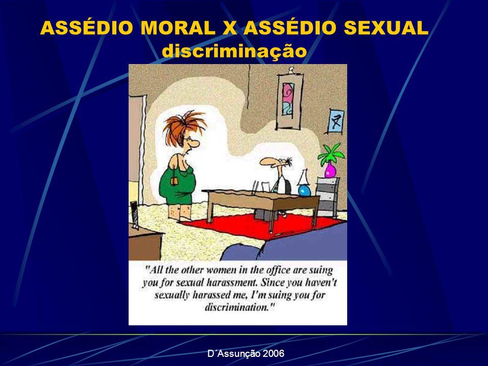 D´Assunção 2006 ASSÉDIO MORAL X ASSÉDIO SEXUAL discriminação