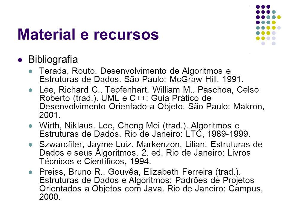 Material e recursos Bibliografia Terada, Routo.