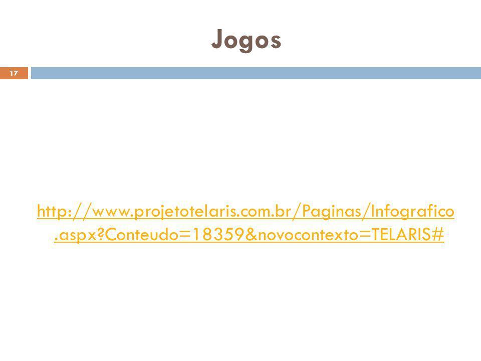 Jogos 17 http://www.projetotelaris.com.br/Paginas/Infografico.aspx?Conteudo=18359&novocontexto=TELARIS#