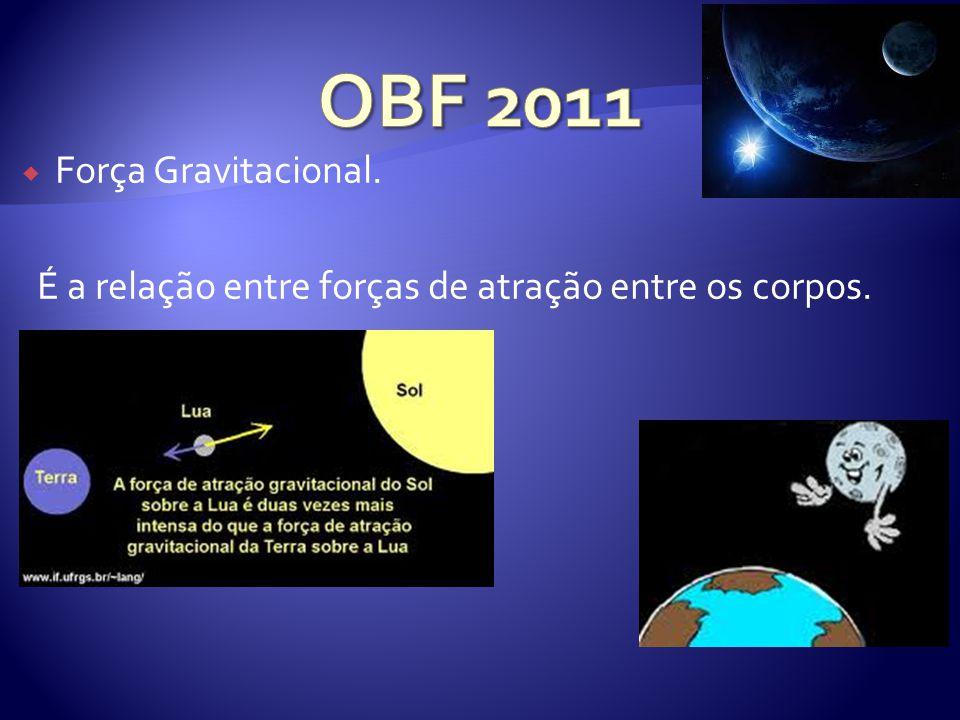 Força Gravitacional. É a relação entre forças de atração entre os corpos.