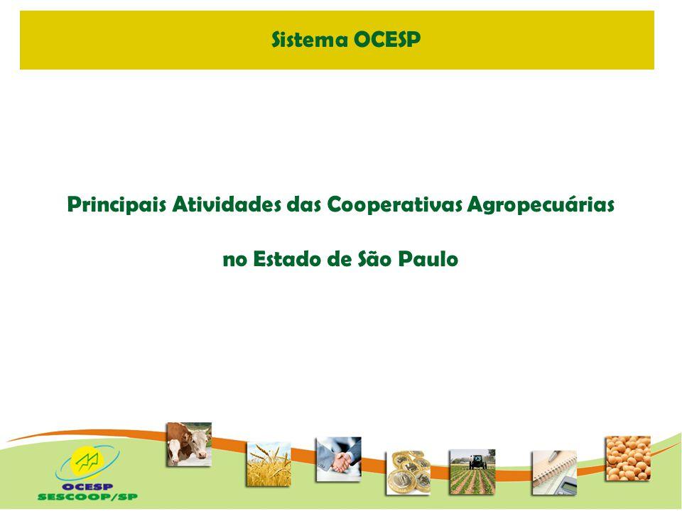 Principais Atividades das Cooperativas Agropecuárias Regional Centro Paulista - Piracicaba Fonte: SISTEMA OCESP - Dez.2008