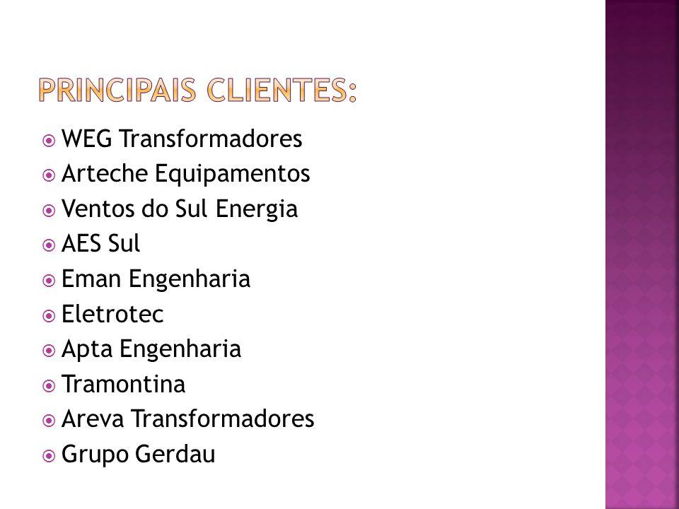 WEG Transformadores Arteche Equipamentos Ventos do Sul Energia AES Sul Eman Engenharia Eletrotec Apta Engenharia Tramontina Areva Transformadores Grup