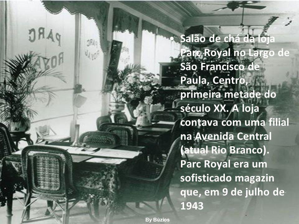 Salão de chá da loja Parc Royal no Largo de São Francisco de Paula, Centro, primeira metade do século XX.