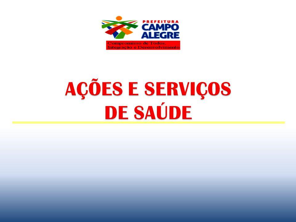 Rede de Serviços Existentes 11 ESF, sendo 5 no Distrito de Luziápolis; 7 Equipes de Saúde Bucal (ESB) e 1 Escolar 1 Serviço de Atendimento Móvel de Urgência - SAMU; 1 Unidade Mista de Saúde - UMSAM – Urgência/emergência, especialidades, marcação de consultas e exames.