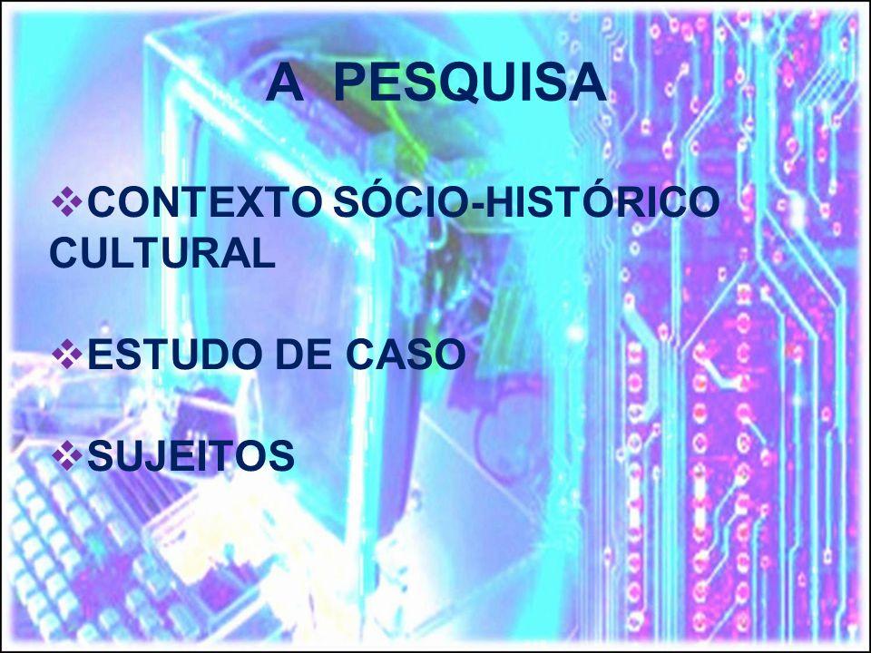 CONTEXTO SÓCIO-HISTÓRICO CULTURAL ESTUDO DE CASO SUJEITOS A PESQUISA