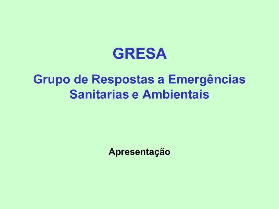 GRESA Grupo de Respostas a Emergências Sanitarias e Ambientais Apresentação