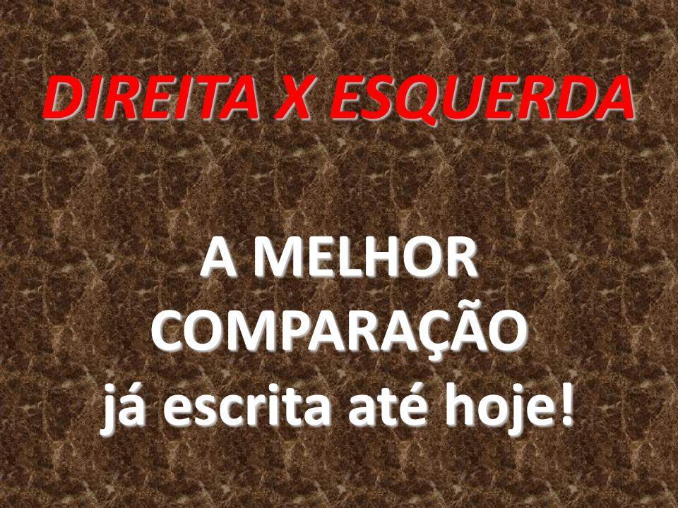 DIREITA X ESQUERDA A MELHOR COMPARAÇÃO já escrita até hoje!
