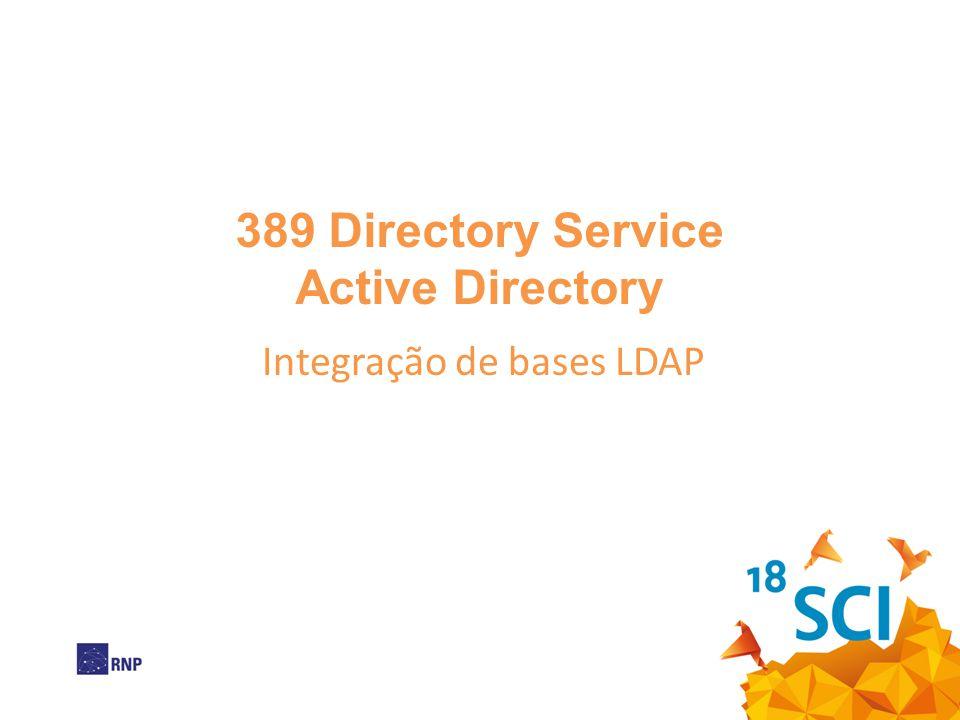 389 Directory Service Active Directory Integração de bases LDAP