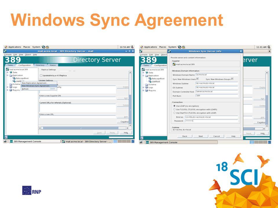 Windows Sync Agreement