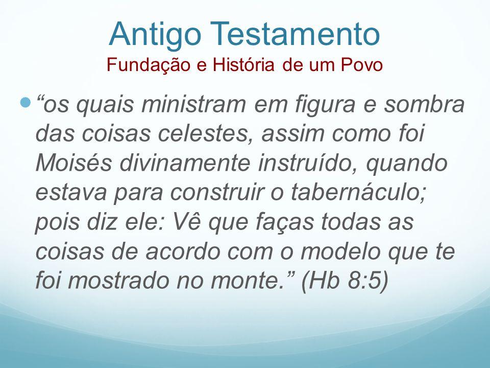 Antigo Testamento Fundação e História de um Povo os quais ministram em figura e sombra das coisas celestes, assim como foi Moisés divinamente instruíd