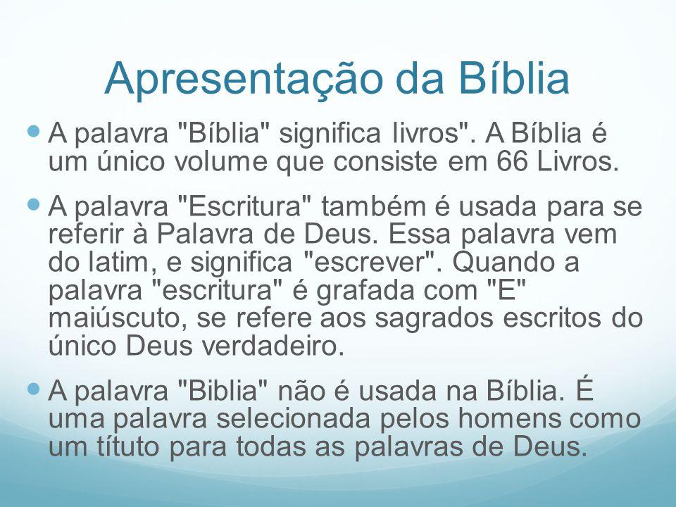 Apresentação da Bíblia A palavra