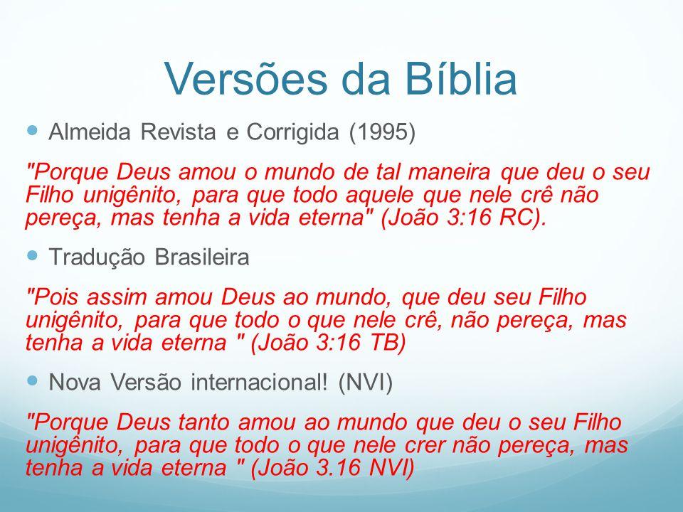 Versões da Bíblia Almeida Revista e Corrigida (1995)