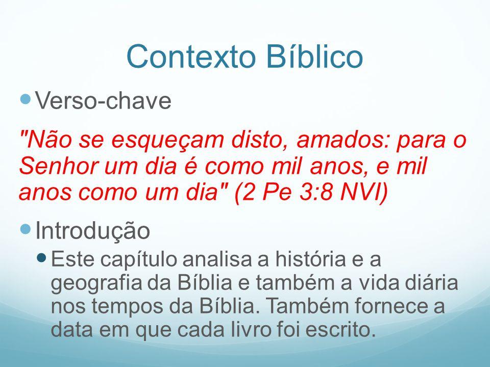 Contexto Bíblico Verso-chave