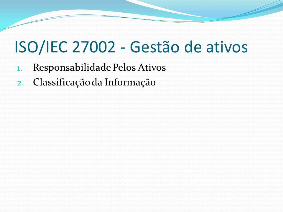 ISO/IEC 27002 – Segurança em recursos humanos 1.Antes da Contratação 2.