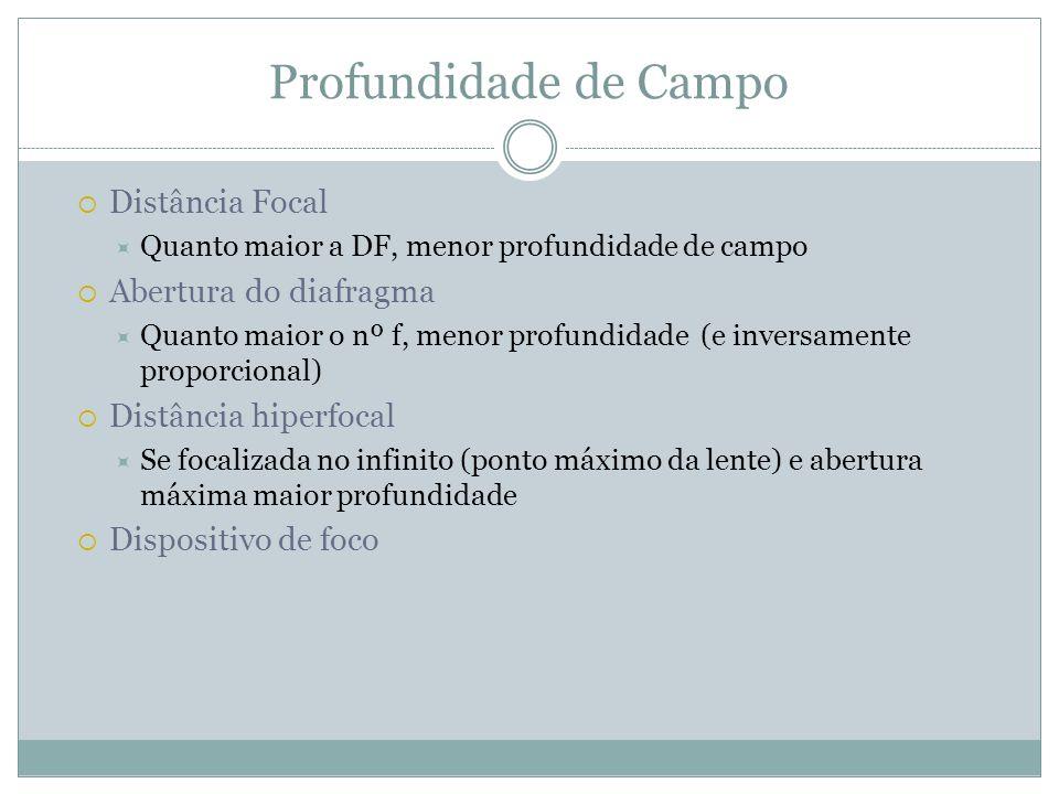 Tipos de Objetivas Normal / fixa (standard) Proporcional Ângulo médio de 46° 35 mm, 45mm, 50mm, 55mm
