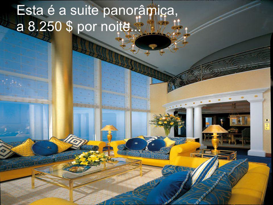 Esta é a suite panorâmica, a 8.250 $ por noite...
