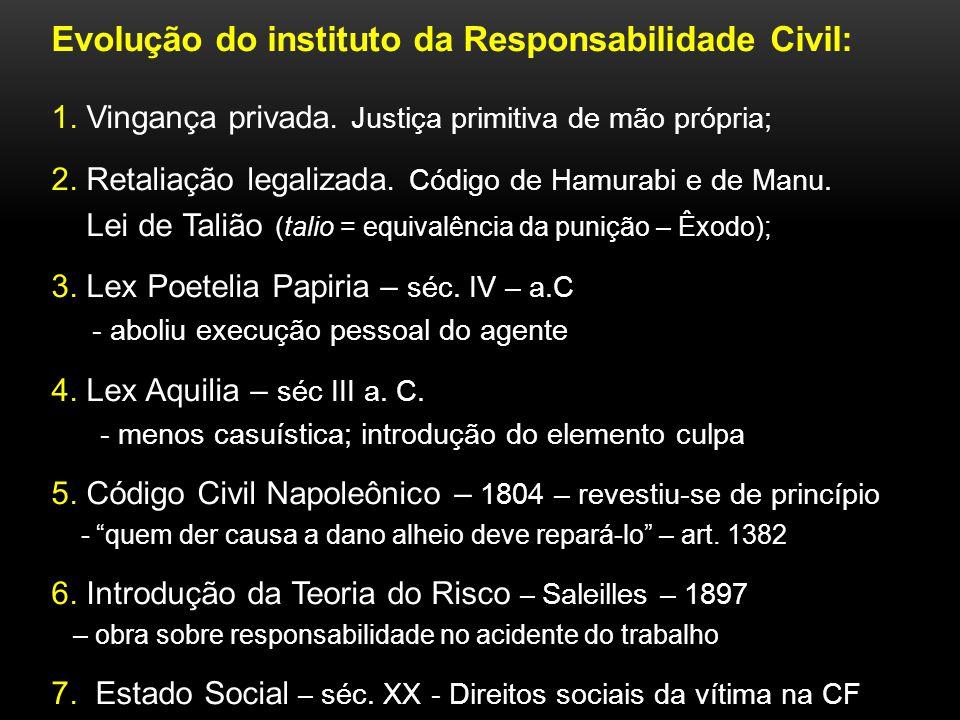 Seis Pilares do Paradigma da Responsabilidade Civil: 1) art.