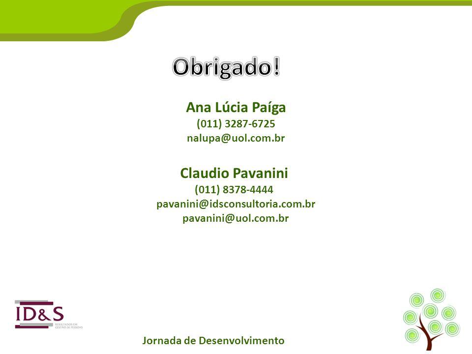Ana Lúcia Paíga (011) 3287-6725 nalupa@uol.com.br Claudio Pavanini (011) 8378-4444 pavanini@idsconsultoria.com.br pavanini@uol.com.br Jornada de Desen