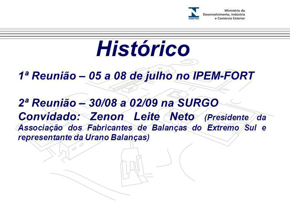 Marca do evento Histórico 1ª Reunião – 05 a 08 de julho no IPEM-FORT 2ª Reunião – 30/08 a 02/09 na SURGO Convidado: Zenon Leite Neto (Presidente da As