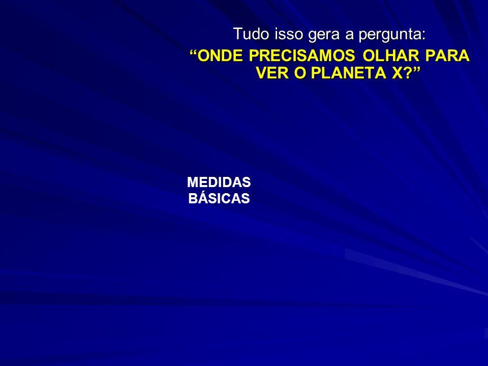 NETUNO: desde 1846, o astrônomo Le Verrice tinha declarado que o Planeta X era o perturbador da órbita de Netuno. E, desde 1996, está sendo observado