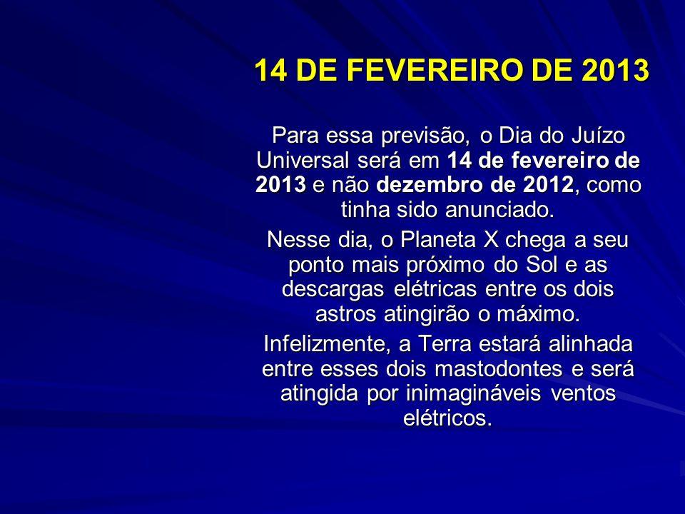 DEZEMBRO DE 2012 DISTÂNCIA DO SOL DE 3,0 AU: o Planeta X passa através do plano da eclíptica e dispara forte interação elétrica com o Sol. Aparecerá c