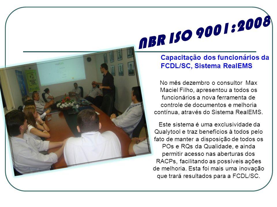 No mês dezembro o consultor Max Maciel Filho, apresentou a todos os funcionários a nova ferramenta de controle de documentos e melhoria contínua, através do Sistema RealEMS.