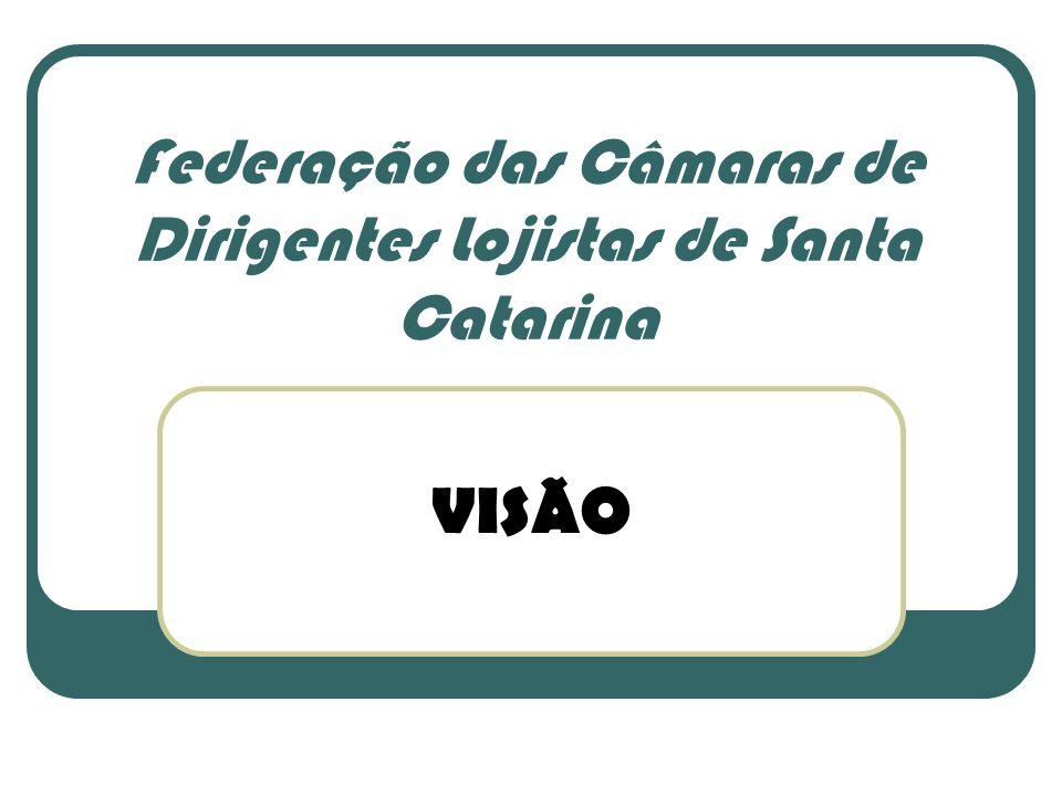 Federação das Câmaras de Dirigentes Lojistas de Santa Catarina VISÃO