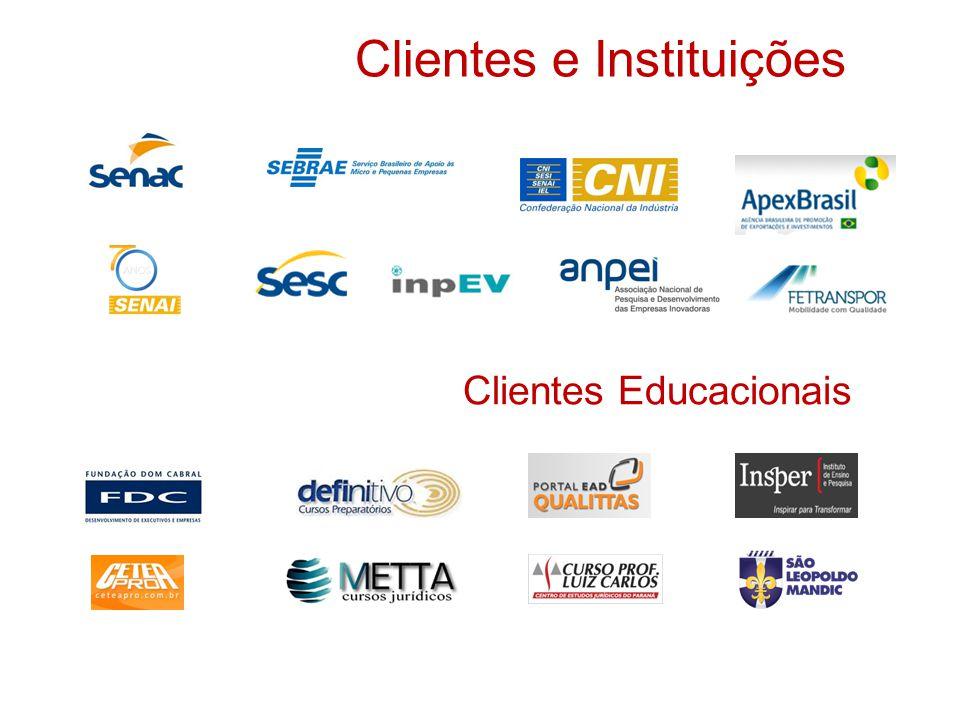 Clientes e Instituições Clientes Educacionais