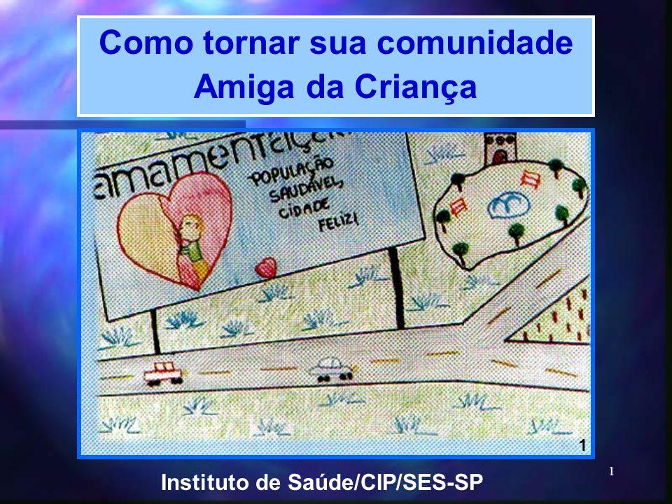 1 Como tornar sua comunidade Amiga da Criança Instituto de Saúde/CIP/SES-SP 1