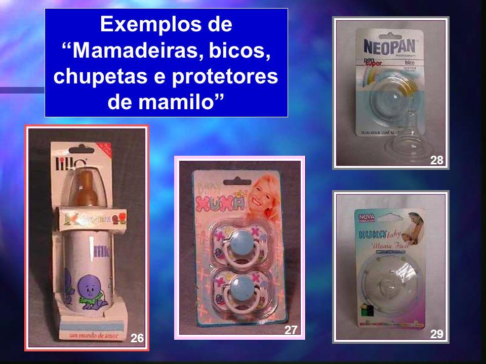 21 Exemplos de Mamadeiras, bicos, chupetas e protetores de mamilo 29 27 28 26