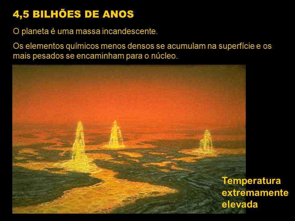 O planeta é uma massa incandescente. Os elementos químicos menos densos se acumulam na superfície e os mais pesados se encaminham para o núcleo. Tempe