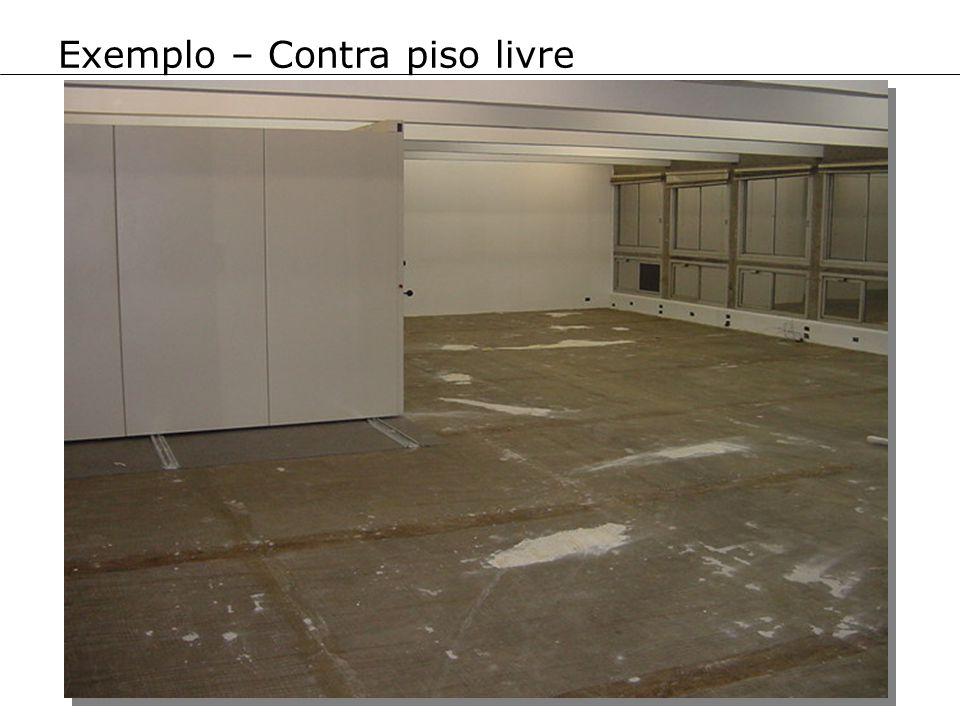 Exemplo – Contra piso livre